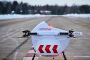 A Drone Delivery Canada drone in Edmonton.