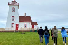 A team from Innovation PEI visit Wood Islands in July to examine the site. Thinh Nguyen • Special to The Guardian