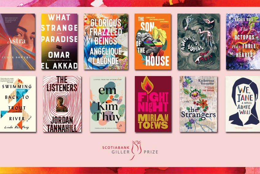 The Scotiabank Giller Prize jury selected 12 titles from 132 books submitted by publishers from across Canada. The prize is awarded annually to the author of the best Canadian novel, graphic novel or collection of short stories published in English, either originally, or in translation, and will be awarded in November.