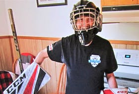 Cindy Weatherbie may be the best 61-year-old goaltender around who is a liver transplant recipient.