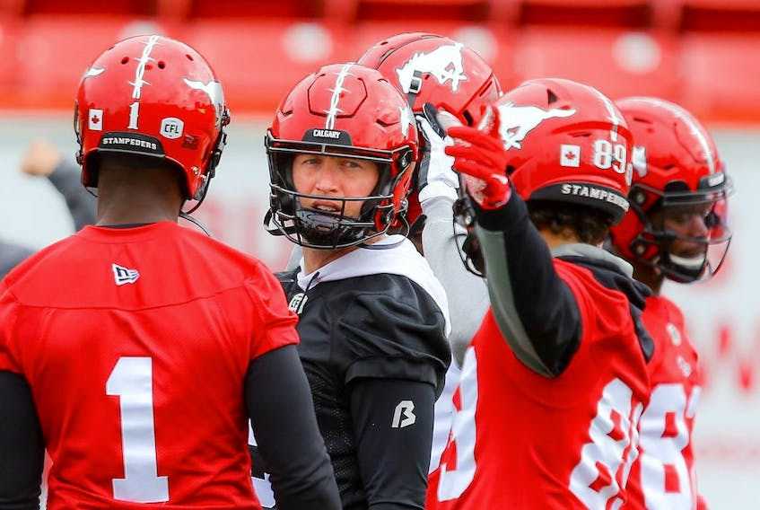 Calgary Stampeders QB Bo Levi Mitchell returns to practice Thursday after being removed from the six-game injured list.