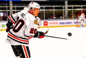 Nathan Noel spent almost the entirety of his first three professional seasons in the minor-league system of the Chicago Blackhawks, who drafted him in 2016. Now, the St. John's native will suit up with his hometown Newfoundland Growlers after signing a contract with the ECHL team. — Rockford IceHogs photo
