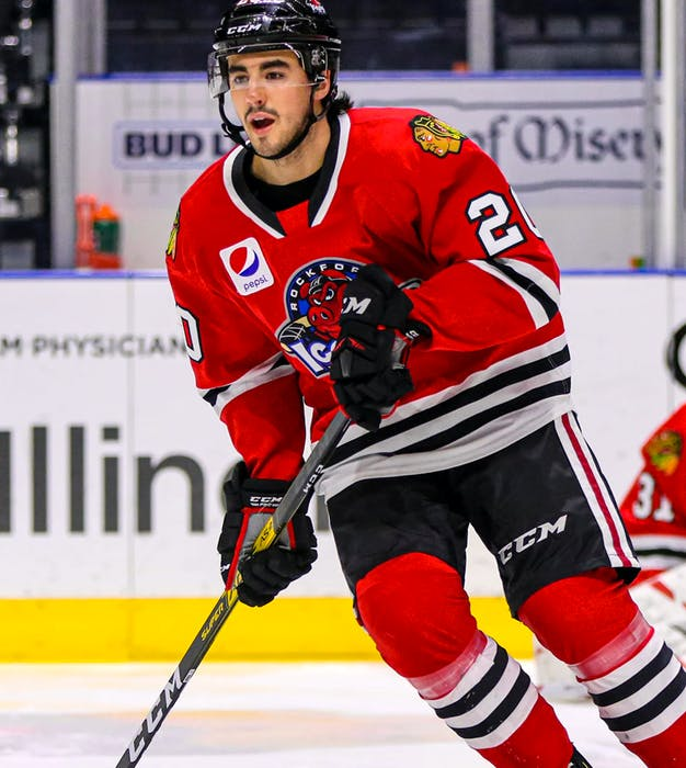 Injuries have hampered Nathan Noel, who played about half his professional games to date witg the AHL's Rockford IceHogs. - Contributed