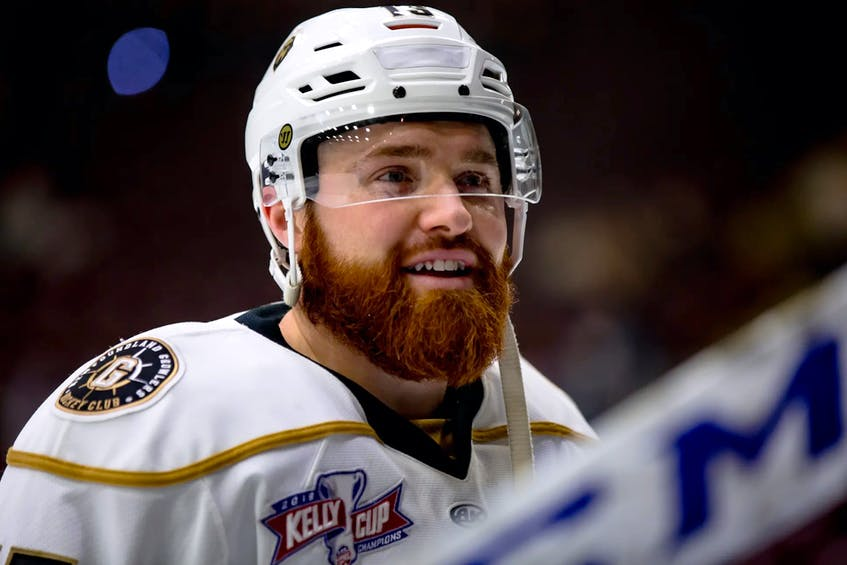 Fan favourite Todd Skirving is back for a third year with the Growlers. — File photo/Newfoundland Growlers/Jeff Parsons - Saltwire network