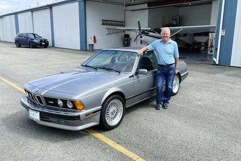 Burt Malan of Vancouver says he's loved the lines of the BMW M6 since first seeing and reading about the car in the July 1987 issue of Car and Driver magazine. As a pilot, he also loves planes, and he restored the 1975 Cessna 180 Skywagon in the background. Contributed photo/Burt Malan