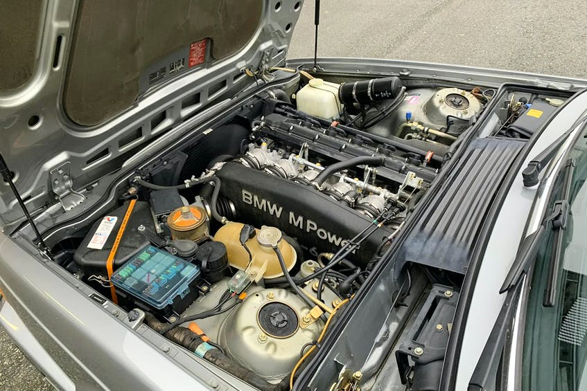 BMW's inline six-cylinder engine under the hood of Burt Malan's 1989 M6. In North American cars, this powerplant was fitted with a catalytic converter and made 256 horsepower. Contributed photo/Burt Malan - POSTMEDIA