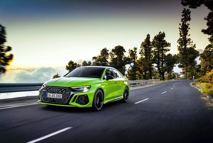 The Audi RS 3 is sure to leave its drivers grinning from ear to ear. Handout/Audi