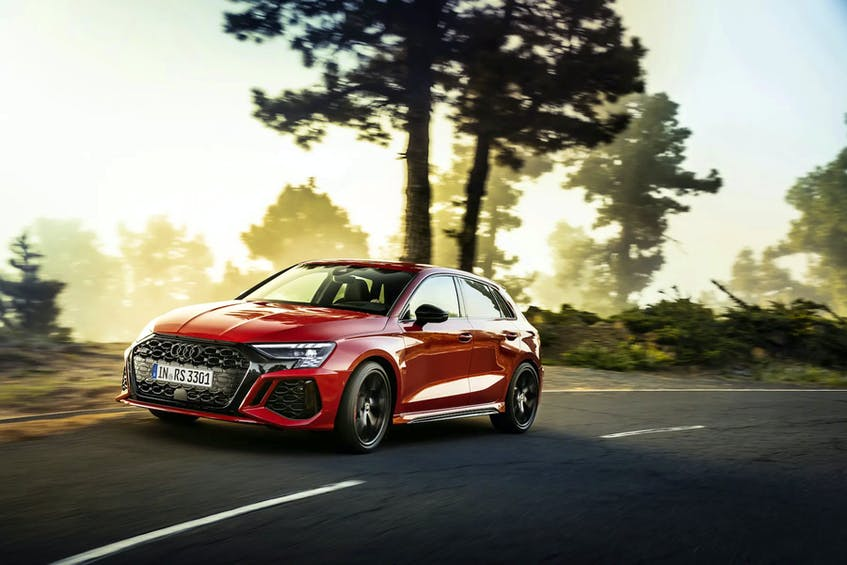 The Audi RS 3 has been redesigned to give it more of an expressive appearance Handout/Audi - POSTMEDIA
