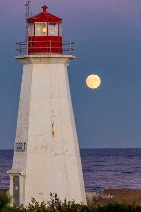 t wasn't quite full, but it was spectacular.  Barry Burgess snapped this stunning photo of the Harvest Moon Sunday evening at moonrise, near Western Head, N.S.
