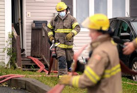A man had to jump from a second-storey window to escape a Monday morning house fire in St. John's. Keith Gosse/The Telegram