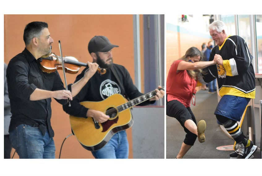 Music and dancing were part of the opening ceremony festivities of the Nova Scotia 55+ Games that were held in Yarmouth and the surrounding area Sept. 16-18. TINA COMEAU PHOTOS