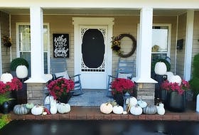Nancy O'Halloran, from Kentville, N.S., says fall is a wonderful time to decorate your front entrance to show your gratitude for the abundance of harvest.
