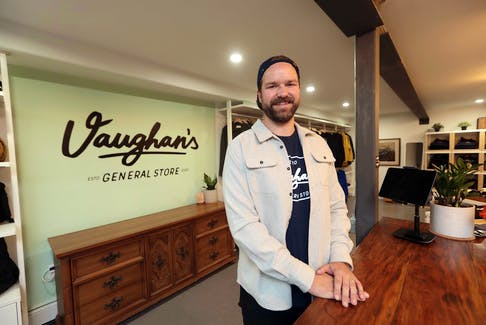Asher Boates is preparing to open his store, Vaughan's General Store on Bloomfield Street, on Thursday. ERIC WYNNE/Chronicle Herald