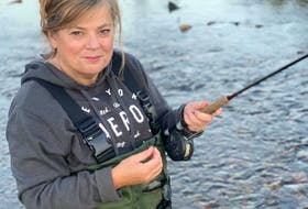 Columnist Sherry Mulley MacDonald loves to fish in the fast-running water near her summer home in Middle River.