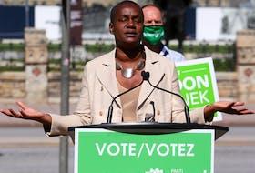 Green Party Leader Annamie Paul in Ottawa on Sept. 10.  Assignment 136242   Jean Levac/Ottawa Citizen     ORG XMIT: 136242