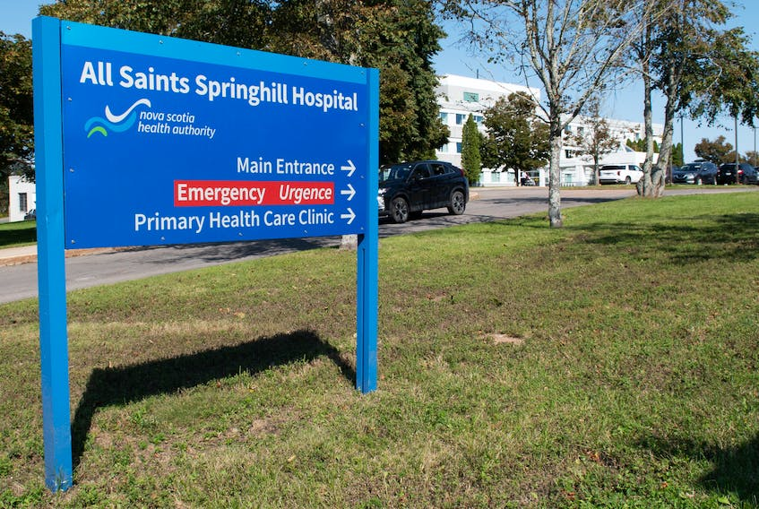 The emergency department at the Springhill All Saints Collaborative Emergency Centre will soon be switching to reduced hours as the Nova Scotia Health Authority moves nurses to the Cumberland Regional Health Care Centre near Amherst. Dave Mathieson photo