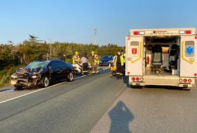First responders were called to a serious Trans-Canada Highway collision involving a car and an ATV Tuesday, Sept. 21, 2021.