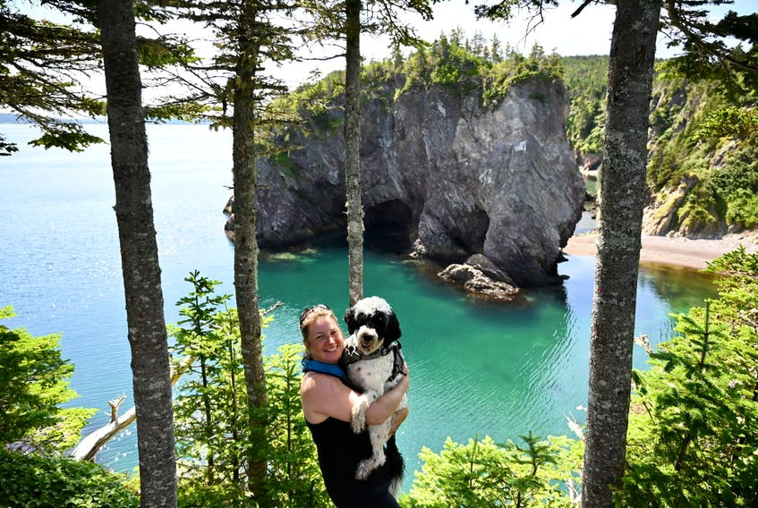 RNC officer Krista Fagan and PDS-in-Training Stella like to stay active and explore the outdoors in their downtime.