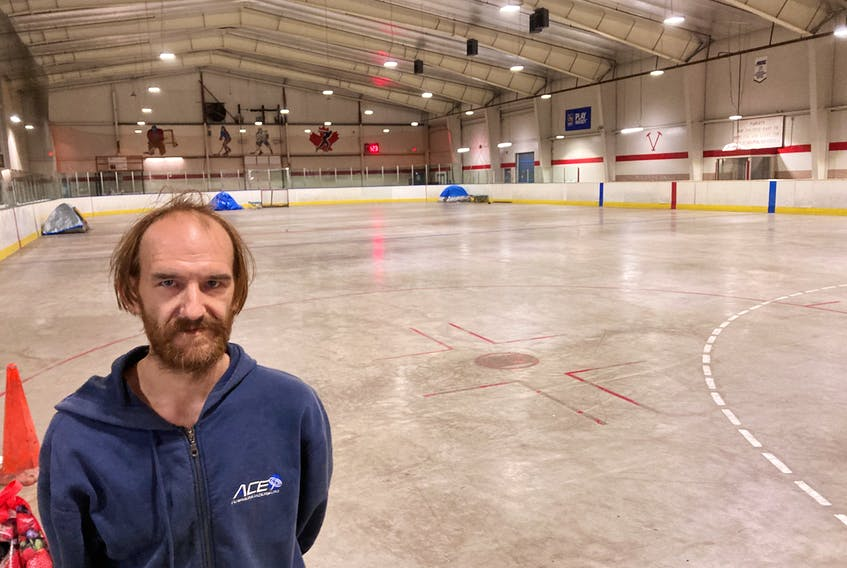 Malcolm Kay says the city's new makeshift men's shelter at Gray Arena in Dartmouth lacks basic services.