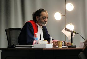 Newfoundland and Labrador Supreme Court Justice Vikas Khaladkar, pictured here during a trial in St. John's earlier this year, is preparing to give his final instructions to the jury hearing the sexual assault trial of Lucas Hanrahan.
