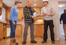 """Mike Holmes: """"Creativity and innovation are just two of the nine skills for success in learning, life and work and I love collaborating with my kids everyday on the job site."""" Sherry, Mike Sr. and Mike Jr., on location of Holmes + Holmes."""