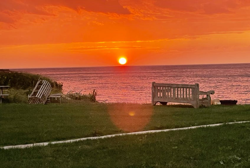 Is there anything that says Prince Edward Island and summer more than a beach, lobster traps and an Island sunset? Mary Donnelly snapped this photo at Doyle's Beach in Savage Harbour, P.E.I. on Sept. 12. I can almost picture myself sitting on that bench, listening to the waves and watching that glorious sun set beneath the horizon of the Gulf of St. Lawrence.