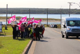 Seaview Manor staff took to the street outside the nursing home today for an information picket calling for help for long-term care staff, who are often working long hours due to shortage of employees.