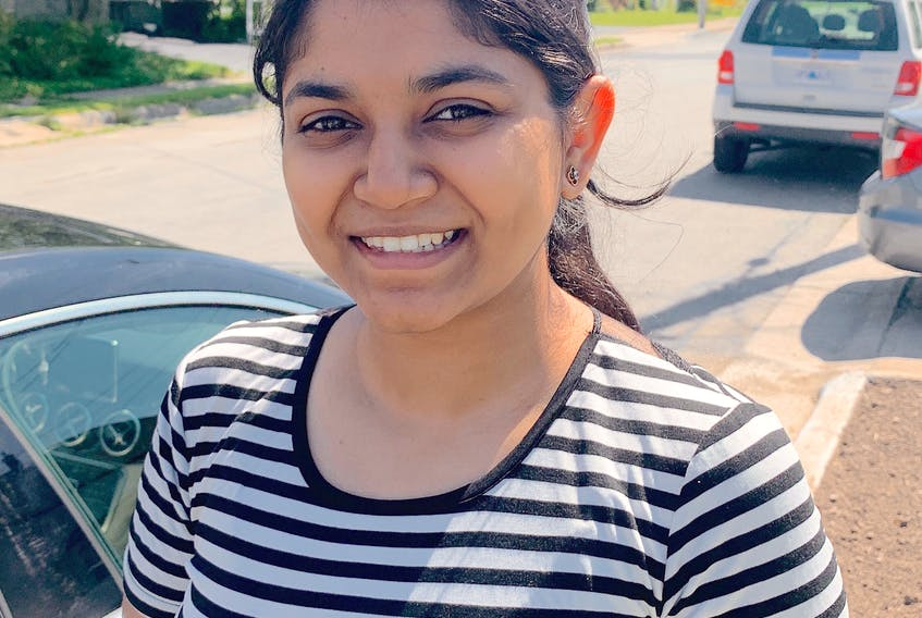 """""""People here are very polite, so they use 'Honey,' or 'Darling,' — that I have noticed,"""" says Vaishali Saini, who moved to Cape Breton from Delhi, India, to attend university. Chris Connors/Cape Breton Post"""