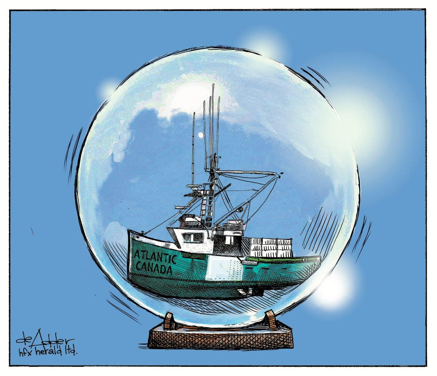 Michael de Adder Atlantic Bubble cartoon — altered