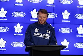 Maple Leafs defenceman Morgan Rielly speaks about the upcoming season and potential new contract in Toronto on Wednesday.