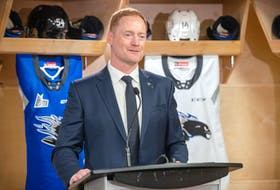 Gordie Dwyer of Stratford is in his first season with the Saint John Sea Dogs of the Quebec Major Junior Hockey League. Dwyer was introduced as the ninth head coach in franchise history on Aug. 4. Michael Hawkins Photo