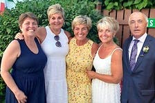 Five siblings from Dominion are headed to Toronto Thursday for a taping of the Canadian Family Feud show, including from the left, Velda Ann Balcom, Carmella Facchin Murphy, Lisa Facchin, Cathy Facchin Gillis and Angelo Facchin, now of Toronto, in this family photo taken from Facebook. CONTRIBUTED