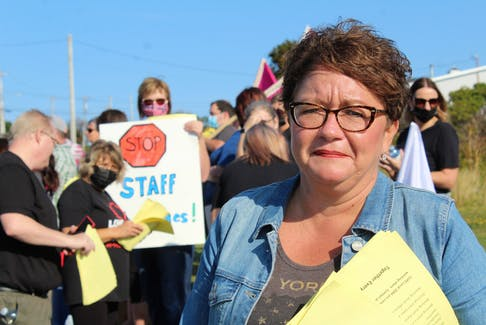 """""""They work short, every shift, every day of the week. It's a real serious concern for residents and for staff."""" — Tammy Martin, Canadian Union of Public Employees (CUPE) national representative. NICOLE SULLIVAN/CAPE BRETON POST"""