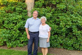 Family physician Dr. Howard Conter and his wife, Karen, both lost their fathers to pancreatic cancer, but they say their story is no different than that of their fellow 1 in 2 Atlantic Canadians touched by cancer. That's their reason for riding and fundraising in this year's Ride for Cancer event. - Photo Courtesy QEII Foundation.