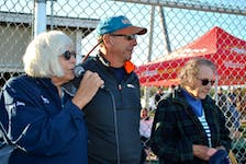 The family of the late Matt Maxwell, June, Stephen and Della Maxwell, presented a total of $25,000 in donations in memory of their son and grandson to the Clark's Harbour Minor Ball Association (CHAMBA) and the Clark's Harbour Elementary School breakfast program on Sept. 11 at the Clark's Harbour ball field. The funds were raised during the second annual Matt Maxwell Memorial Golf Tournament, held in August at River Hills in Clyde River. KATHY JOHNSON