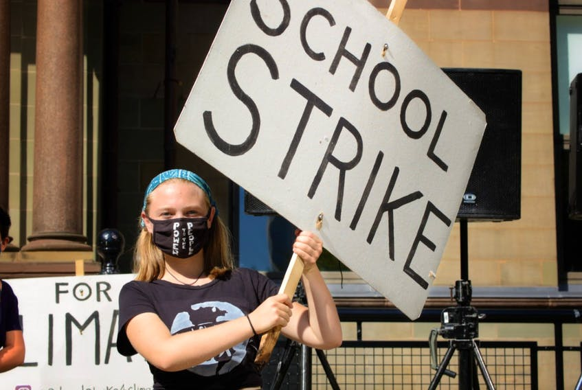Lilian Hougan-Veenma, a Grade 12 student at Citadel High School in Halifax, is part of Climate Strike Halifax, a group that has organized a climate justice rally for Friday at noon. -- Contributed