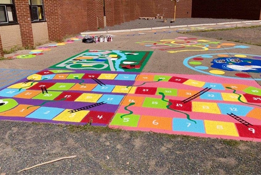 Students at A.G. Baillie were welcomed with a brightly painted school yard when they returned to school earlier this year.