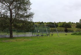 The current playground at The East River Valley Recreation Park in Springville.