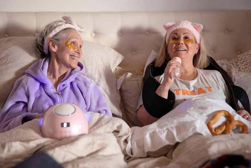 Deborah Grover and Jann Arden in a scene from Season 3 of Jann. Courtesy, CTV