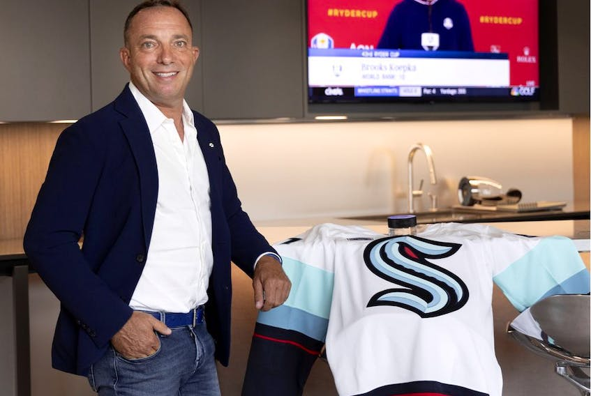 """Mitch Garber is a minority owner of the Seattle Kraken expansion team. """"The vibe in Seattle is incredible,"""" Garber said. """"No team has sold out their season tickets quicker."""""""