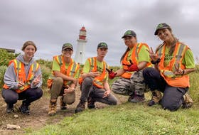 The 2021 Trashformers team, from left: Kaylee Petite, Eve Bunbury, Jack Gillespie, Pritika Dadhich and Emma Wrathall. CONTRIBUTED/ACAP Cape Breton