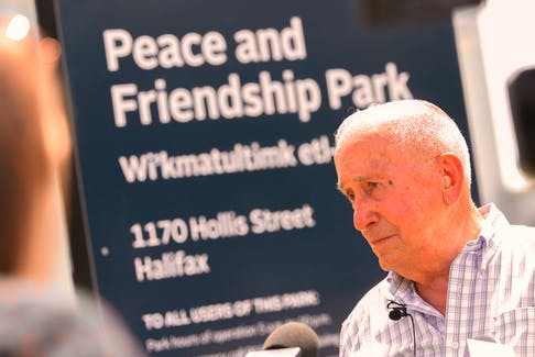 Daniel Paul, a Mi'kmaw Elder and historian, is shown during an interview following the renaming ceremony of Peace and Friendship Park in Halifax, June 21, 2021. Paul was a member of the task force for the former Cornwallis statue. Tim Krochak/SaltWire Network