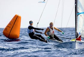 Chester sailors Georgia, left, and Antonia Lewin-LaFrance are fresh off a third-place performance at the European 49erFX championships and have their sights set on the upcoming world championships in Oman. - Contributed
