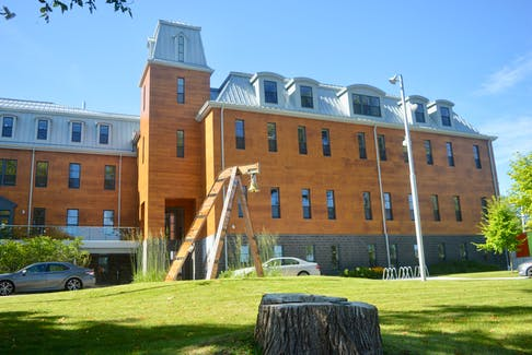 There's always lots going on at New Dawn Enterprises Limited's recently-renovated Holy Angels convent and the adjacent former high school building. DAVID JALA/CAPE BRETON POST