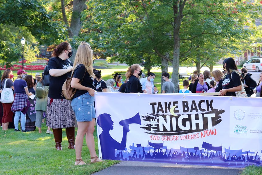 Take Back the Night is a world-wide day of demonstrations against gender-based violence and in support of survivors. It was held in Charlottetown on Sept. 23.
