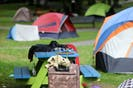 FOR NEWS FILE: A teddy bear sits on some luggage, outside one of the tents, housing the unhoused, in Victoria Park in Halifax Friday September 24, 2021.  TIM KROCHAK PHOTO