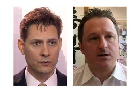 Michael Kovrig (left) and Michael Spavor, the two Canadians detained in China, are shown in these 2018 images taken from video. The Canadian Press