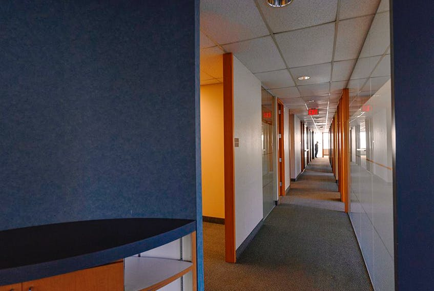 Empty office space in the former Dome Petroleum headquarters building. The building is to be converted into affordable housing by HomeSpace Society, with help from a $5.5-million grant from city hall.