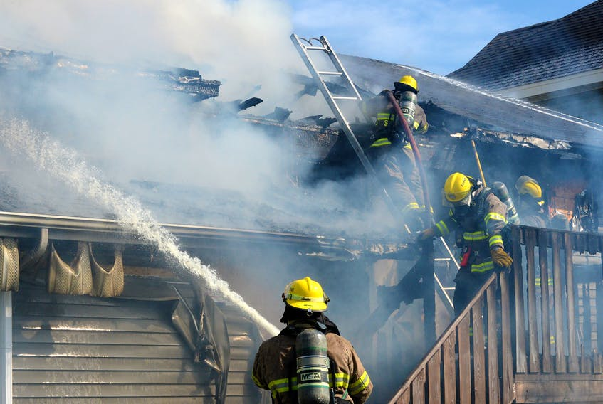 Six peple are homeless after a fire destroyed their home in St. John's Saturday afternoon. Keith Gosse/The Telegram