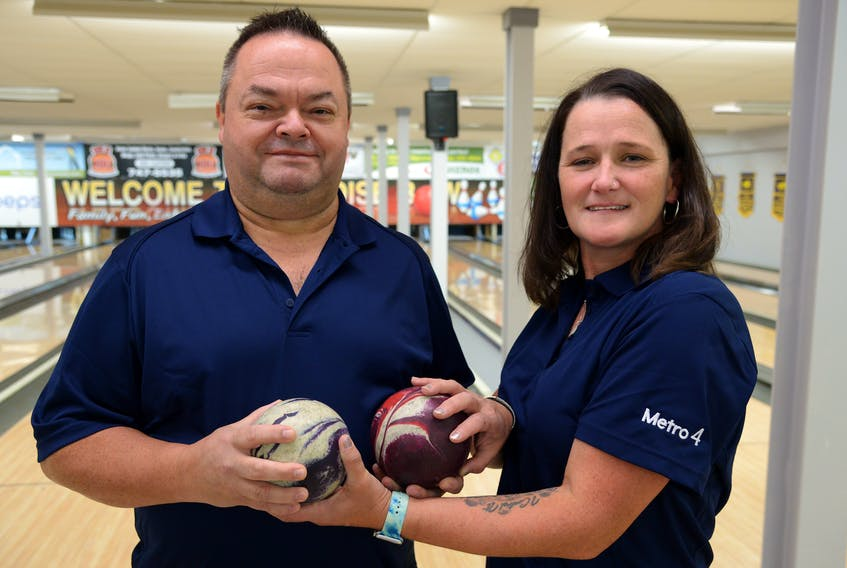 Steven and Joanne Walsh at Paradise Bowling Lanes